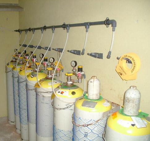 Chlorgas - Anlagen und Behälter