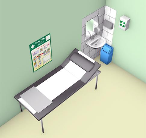 sichere schule sporthalle raum f r erste hilfe 01. Black Bedroom Furniture Sets. Home Design Ideas