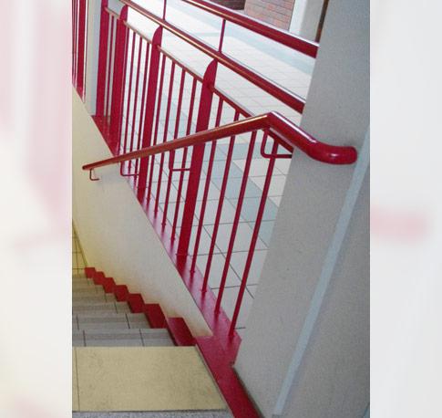 Sichere Schule Flure Und Treppen Geländerumwehrungen 01
