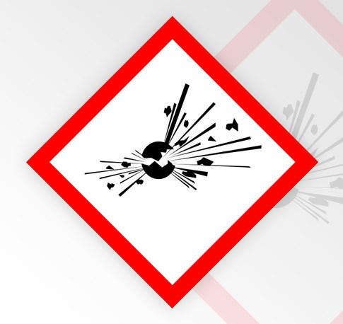 Tätigkeiten mit explosiven Stoffen und Gemische